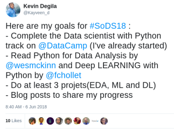 tweet data science goals